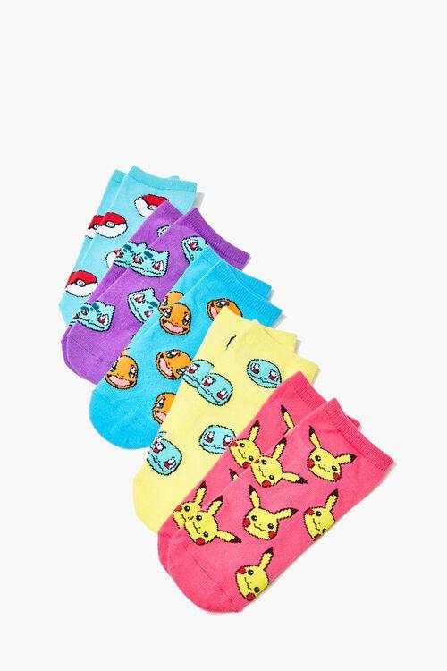 Pokemon Print Ankle Socks - 5 Pack, image 1