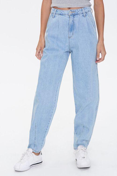 Pleated Straight-Leg Jeans, image 2