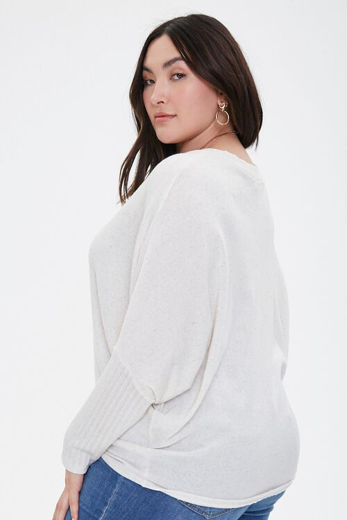 Plus Size Ribbed Dolman-Sleeve Top, image 2
