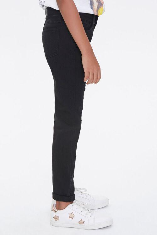 Girls Distressed Cuffed Pants (Kids), image 2