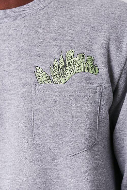 City Embroidered Graphic Sweatshirt, image 5