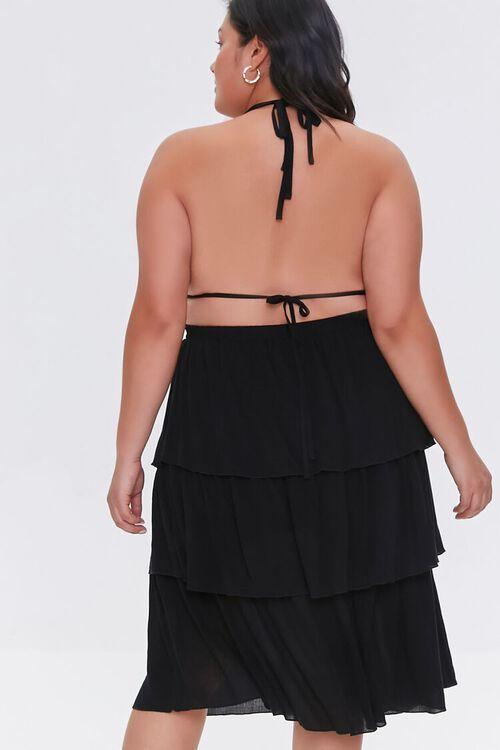 Plus Size Tiered Halter Dress, image 3