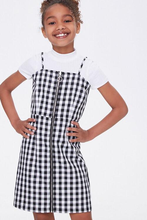Girls Gingham Cami Dress (Kids), image 1