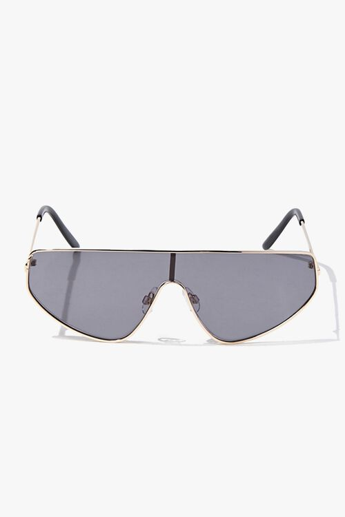 Premium Metal Shield Sunglasses, image 1