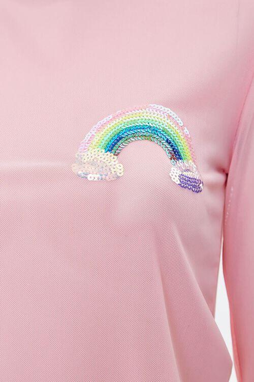 Mesh Rainbow Sequin Top, image 4