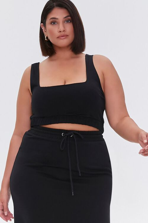 Plus Size Crop Top & Maxi Skirt Set, image 4