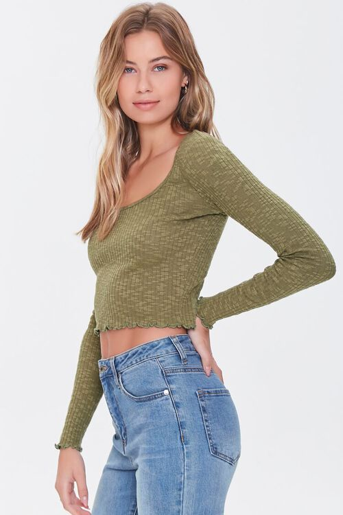 Ribbed Lettuce-Edge Top, image 2