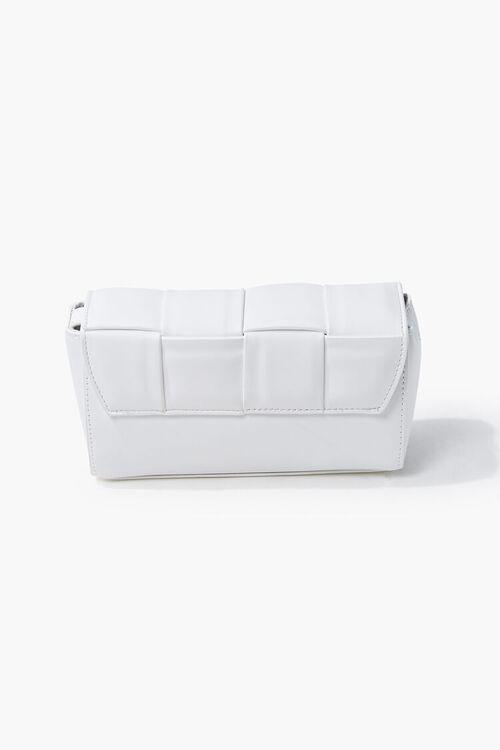 Faux Leather Crosshatch Crossbody Bag, image 1