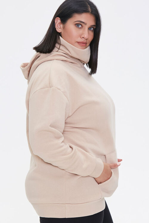 Plus Size Face Mask Hoodie, image 2