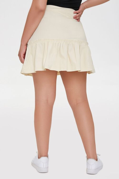 Plus Size Lace-Up Mini Skirt, image 4