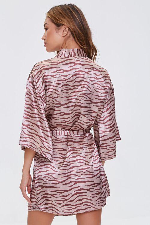 Satin Tiger Print Robe, image 3