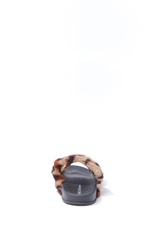 Leopard Faux Fur Slippers, image 2