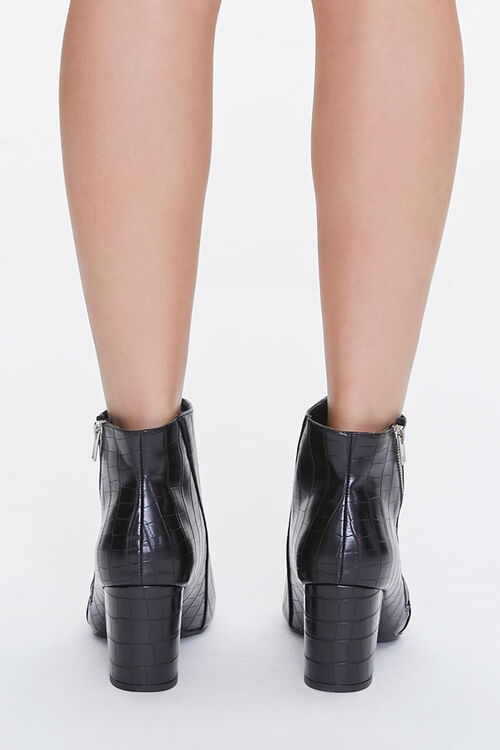 Faux Croc Leather Booties, image 3