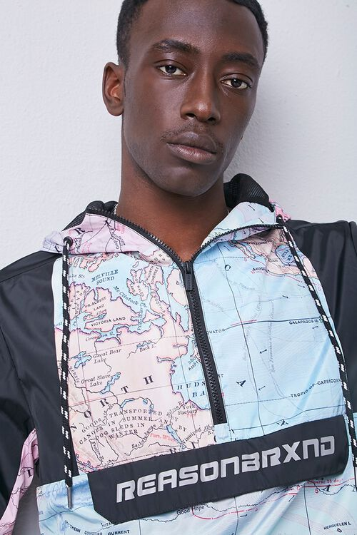 Reason Globe Graphic Colorblock Anorak, image 5