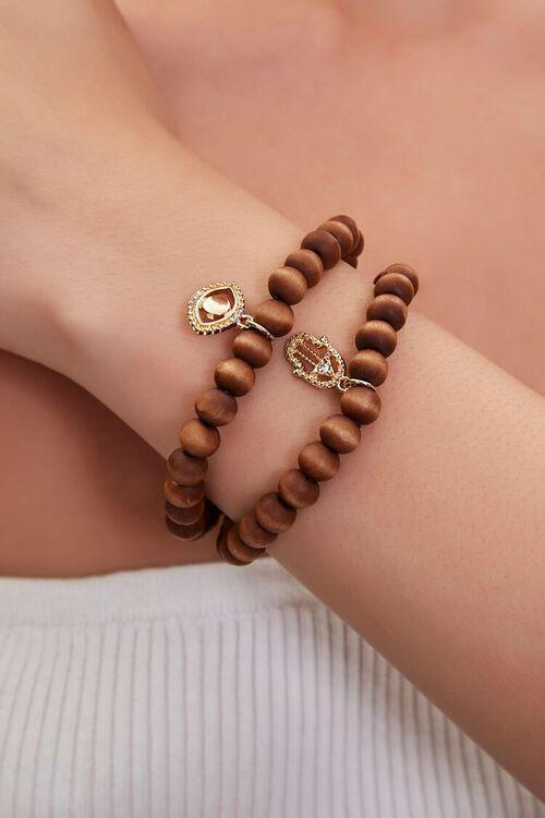 Evil Eye & Hand Charm Bracelet Set, image 1