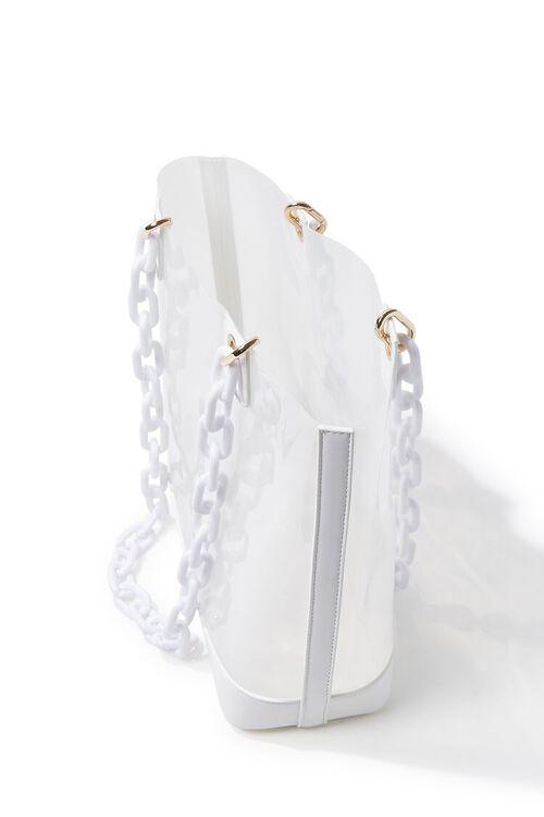Transparent Chain-Strap Tote Bag, image 2