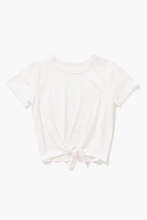 Girls Knotted-Front Tee (Kids), image 1