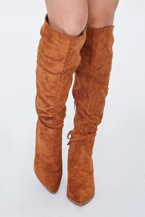 Slouchy Knee-High Bow Boots, image 4