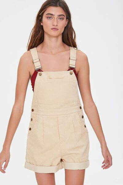 Corduroy Overall Shorts