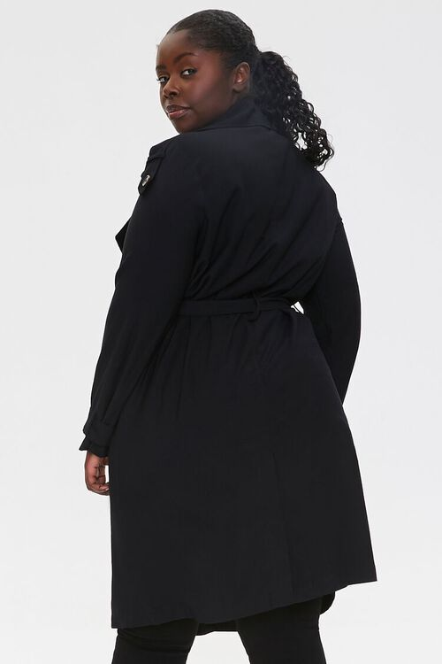 Plus Size Double-Breasted Coat, image 3