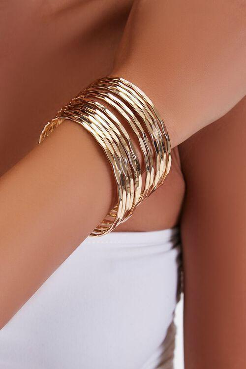 Hammered Bangle Bracelet Set, image 1