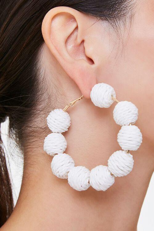 Threaded Ball Hoop Earrings, image 2