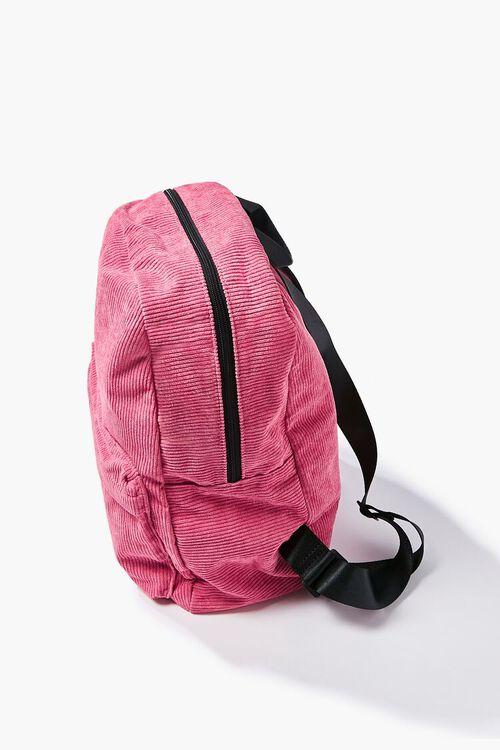 Corduroy Zippered Backpack, image 2