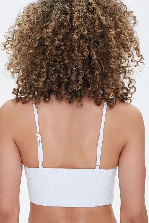 Ribbed V-Neck Bralette Bikini Top, image 3