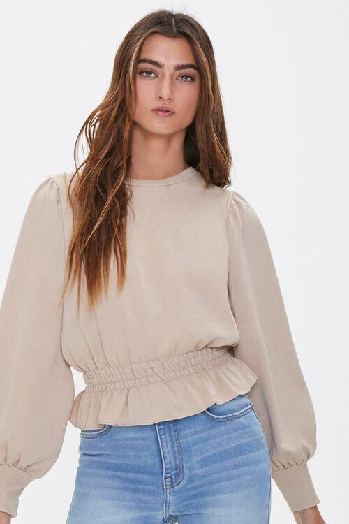 Heathered Fleece Top, image 1