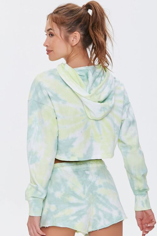 GREEN/WHITE Active Tie-Dye Hoodie, image 3