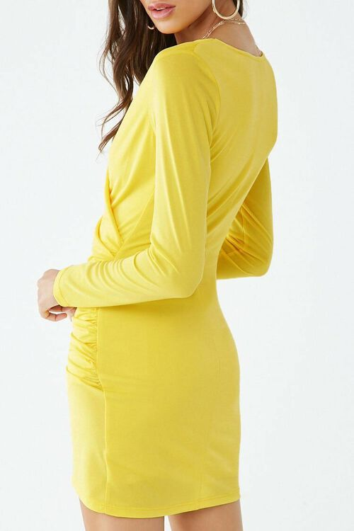 Surplice Tulip-Hem Mini Dress, image 3