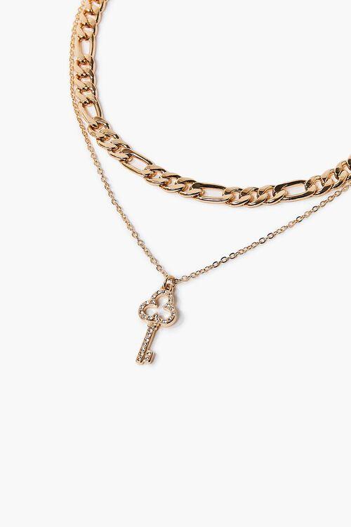 Key Charm Layered Necklace, image 1
