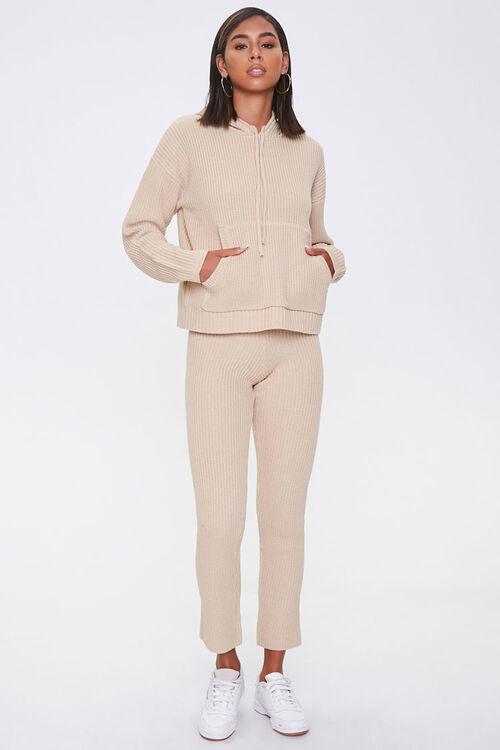 Sweater-Knit Hoodie & Pants Set, image 4