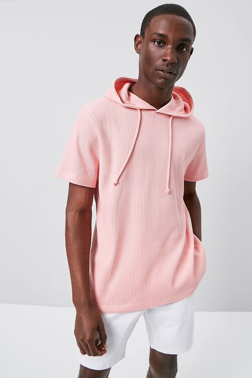 Ribbed Knit Hooded Top, image 1