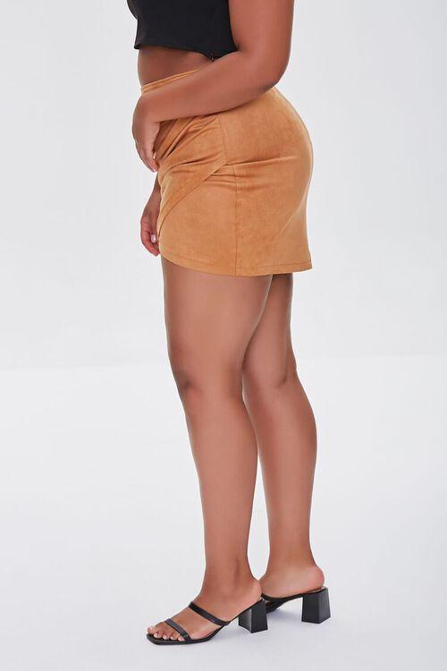 CAMEL Plus Size Tulip Mini Skirt, image 3