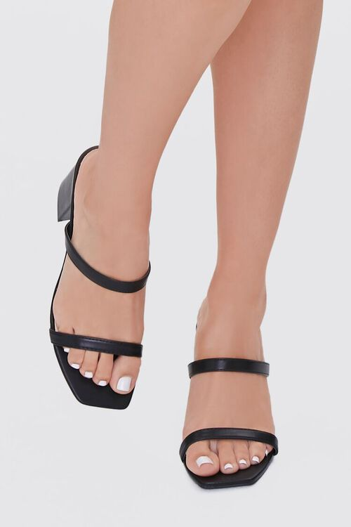 BLACK Metallic Slip-On Block Heels, image 4