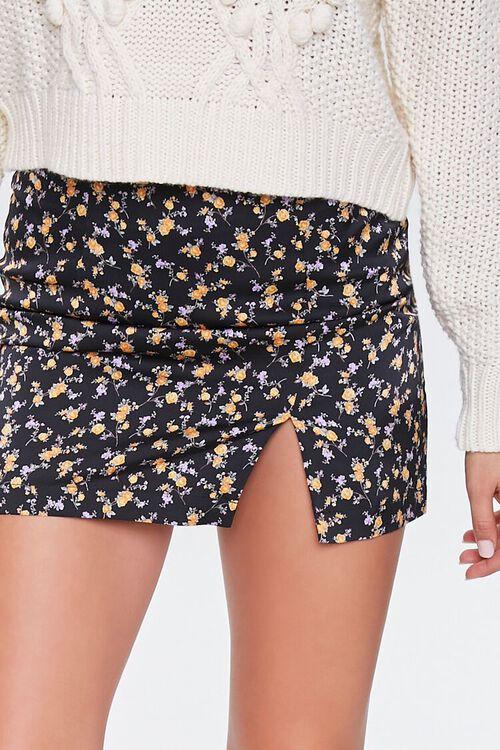 Satin Floral Mini Skirt, image 5