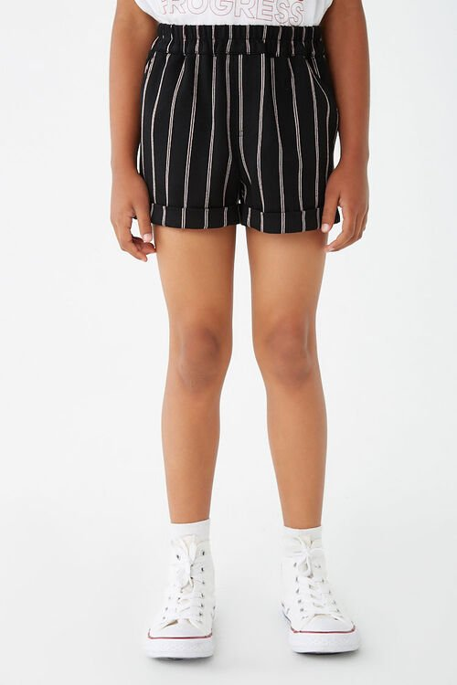 Girls Striped Cuffed Shorts (Kids), image 2