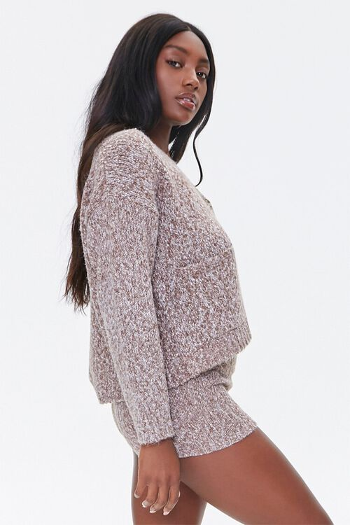 Marled Button-Front Cardigan, image 2