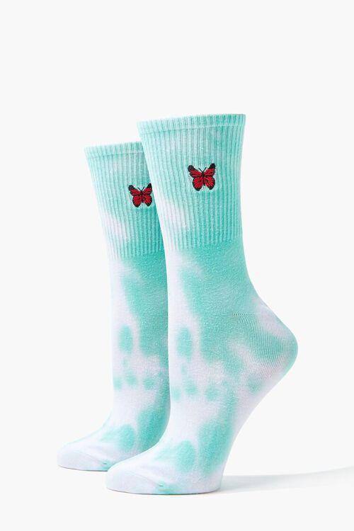 Tie-Dye Butterfly Crew Socks, image 1