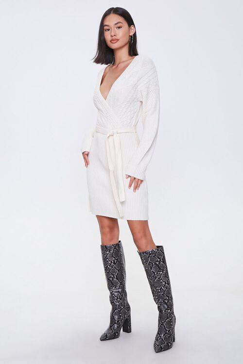 Cable Knit Wrap Dress, image 4
