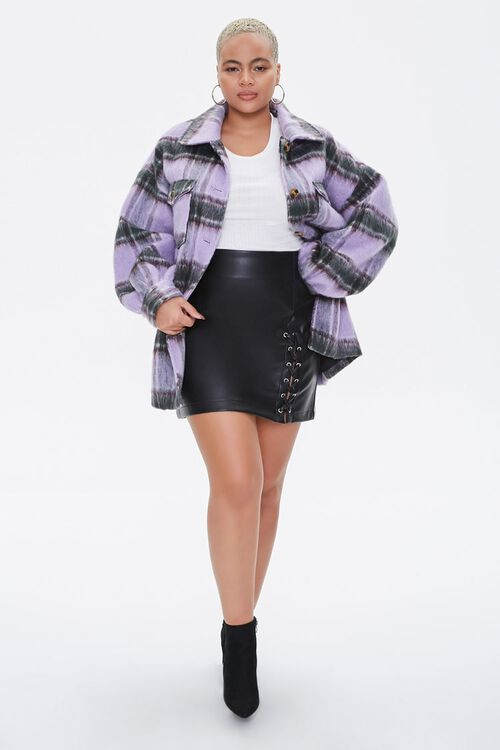 Plus Size Button-Front Plaid Jacket, image 4