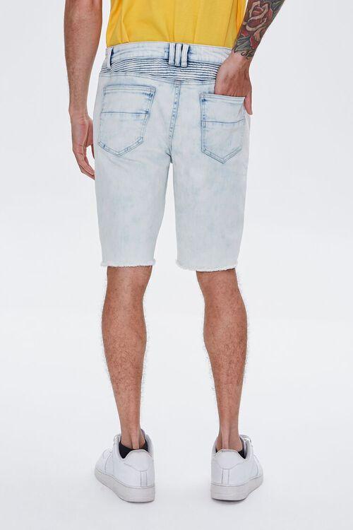 Distressed Denim Moto Shorts, image 4