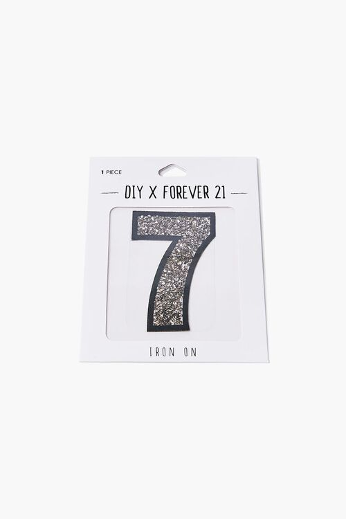 Iron-On Glitter Number Patch, image 2