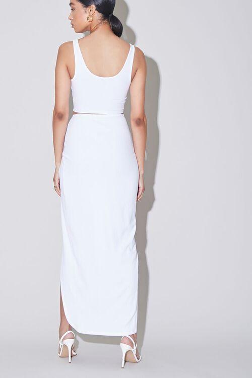 Ribbed Crop Top & Side-Slit Skirt Set, image 3
