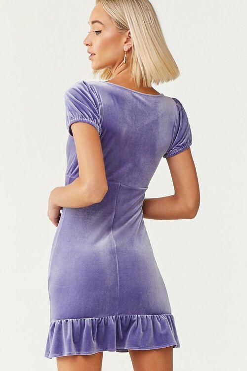 PERIWINKLE Velvet Short Sleeve Mini Dress, image 3
