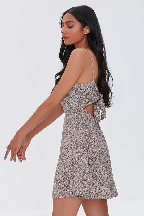 Abstract Print Cutout Mini Dress, image 2