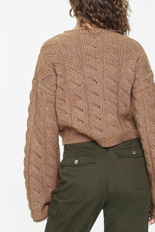 Cable Knit Drop-Sleeve Sweater, image 3