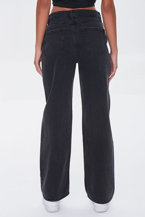 WASHED BLACK Crisscross High-Rise Straight Jeans, image 4