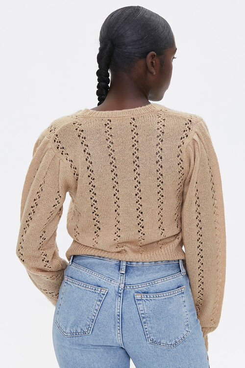 Faux Pearl Cardigan Sweater, image 3